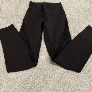 Lululemon Yoga pants black w/ pipping on the legs